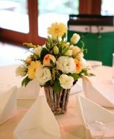 ガーベラ、テーブル装花