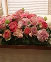 ケーキ 装花