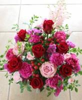 赤バラ アレンジメント