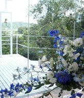 デルフィニウム、チャペル装花