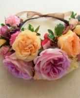 シルクフラワーの花冠