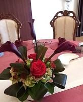 カラーゲスト装花