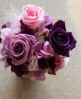 プリザーブドフラワー ピンク紫系