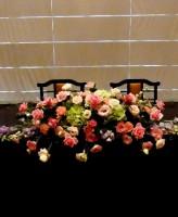 バラ デルフィニウムのメイン装花