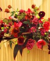 ジュリアバラ、ダリア メイン装花